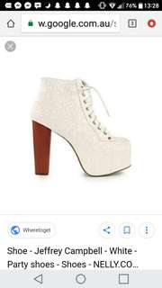 Jeffery Campbell boots in white