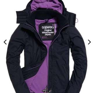 🌷Superdry極度乾燥女裝衝鋒外套Pop Zip Arctic SD-Windcheater Jacket