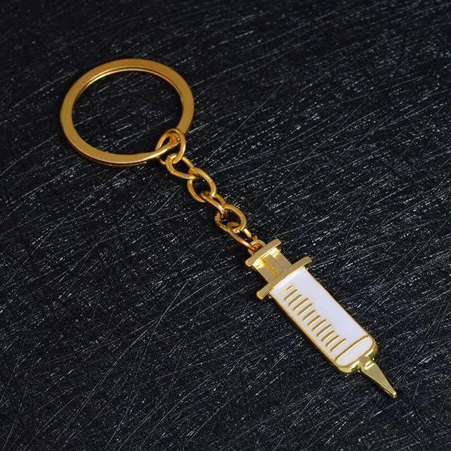 187-Syringe & Stethoscope Keychain