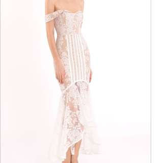 Doublewoot dusooky white lace dress