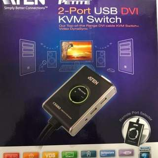 ATEN 2-port USB DVI KVM Switch - Model CS682, price S$ 155 negotiable