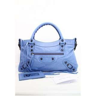 BALENCIAGA 103208 First 粉紫藍色 (Nuage) 手提袋 肩背袋 手袋
