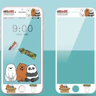 CHEAPEST We bare bear Iphone screen protector! [PO]
