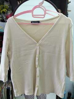 Cardigan (beige/light colour) Size S/M