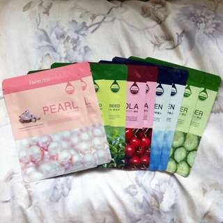 10 pcs Authentic Farmstay Visible Difference Essence Face Masks 🌸