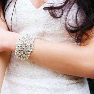 Bridal Rhinestone Cuff(PRE-ORDER)