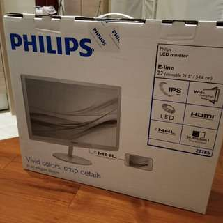 "Philips LCD monitor 22"" 飛利浦"