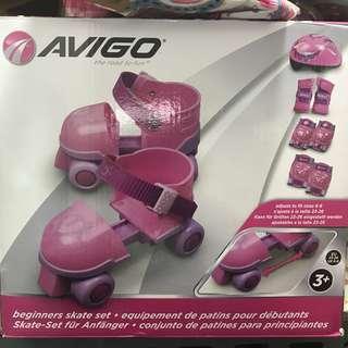 AVIGO Beginners Roller Skate Set