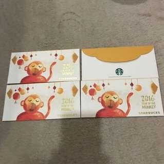 Starbucks monkey angpow