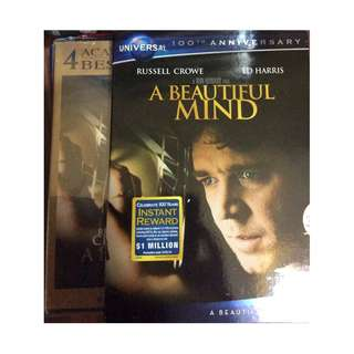 Sealed beautiful mind movie dvd clearance extra