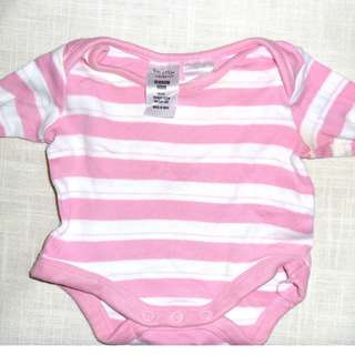 Charity Sale! Authentic tiny Little Wonders Baby Girl Onesie Size Newborn Pink Striped