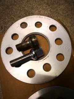 Dekitting 2x5mm wheel spacers with nuts