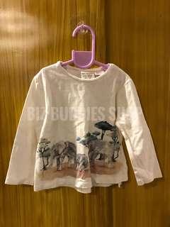 Zara white long sleeves for baby
