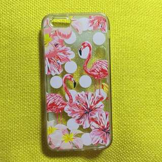 iPhone 6/6s pink flamingo liquid quicksand case