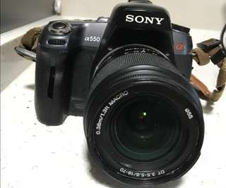 SONY DSLR CAMERA WITH 4 LENSES