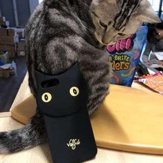 iPhone 貓咪矽膠電話殼