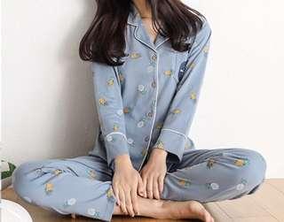 Blue pineapple pajamas