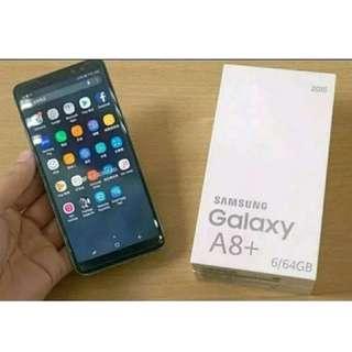Samsung Galaxy A8 Plus Smartphone - Black [64GB/6GB] Kredit 30menit