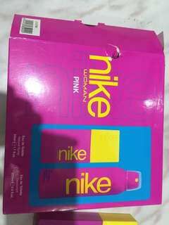 Brand new AUTHENTIC nike perfume and deodorant pink from PORTUGAL RUSH!!!
