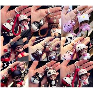 🚚 韓國可愛蒙奇奇鑰匙扣,鑰匙圈 包包吊飾
