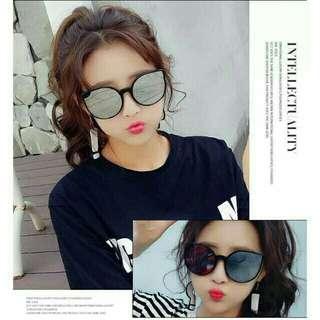 Women Eyes Colored Lens Korean Style Sunglasses