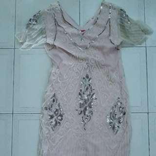 Women's dress (pinkish peach colour)