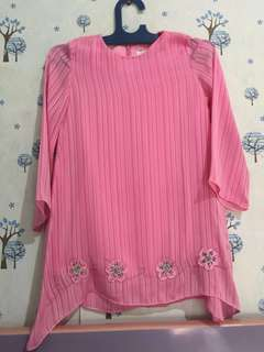 #MakinTebel Preloved Atasan pink