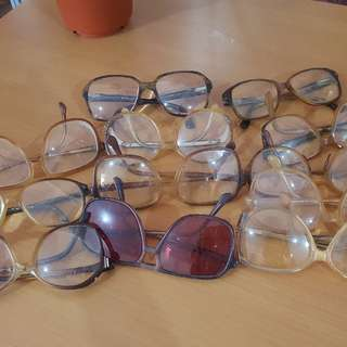 Take All US 70'S VINTAGE AUTHENTIC Branded EYEGLASSES  With Eye Grade