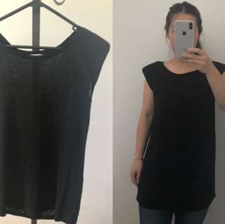 seed black long top