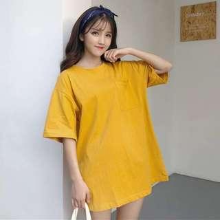 Mustard T-shirt/ T-shirt dress