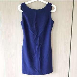 Navy royal Blue Dress from Zara