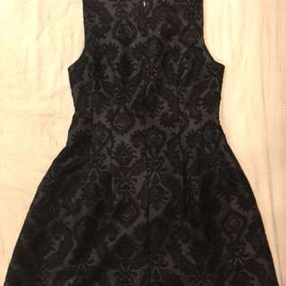 Black Brocade Dress for Sale