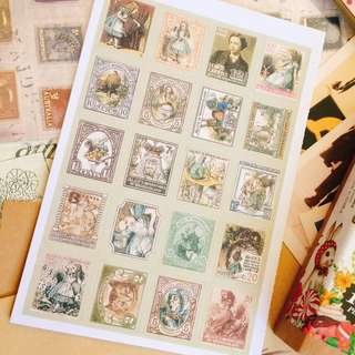 Vintage Stamps Sticker