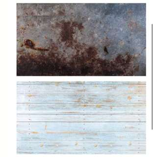 Faux Rusted Metal & Wood Background Paper Out Of Stock