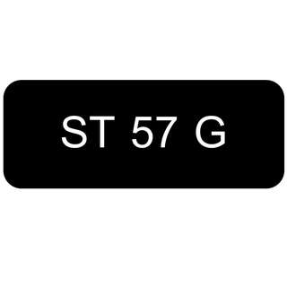 Car Number Plate for Sale: ST 57 G