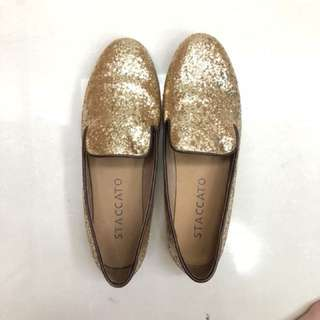 Stacatto Gold Shoes