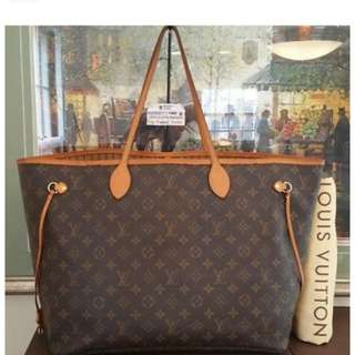 LV Neverfull GM Monogram Large