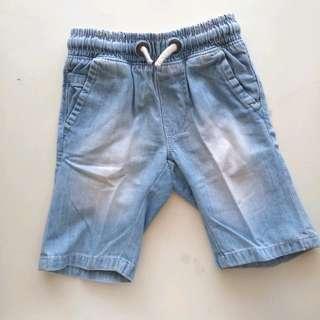 Celana pendek anak denim