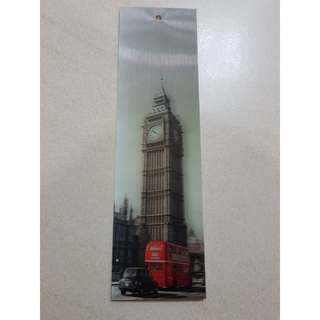 Big Ben and Red Bus London 3D Bookmark