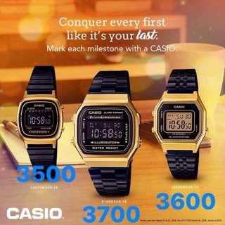 Casio Vintage Black Gold