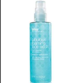 W Hotel BN bliss fabulous foaming facial wash