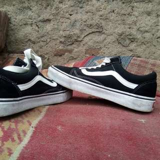 Vans Os Scool Black White