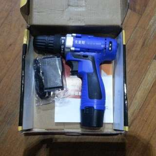 Brand new 12V cordless drill lithium battery 16 clutch settings single speed