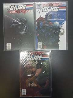 #0 to #8 G.I JOE COBRA CIVIL WAR