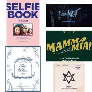 [PRE-ORDER] : Red Velvet (Selfie Book) / Stray Kids - I Am Not / SF9 - Mamma Mia Special Edition / APRIL - The Blue / Kihno Astro - 2018 Astro Special Single Album