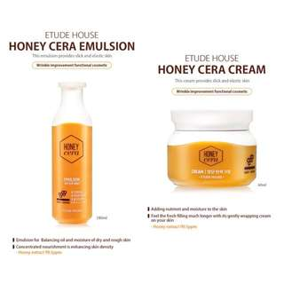Etude House Honey Cera emulsion + cream