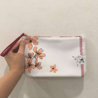 Clarins makeup cosmetics pouch bag