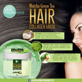 Matcha Green Tea Hair with Collagen Mask