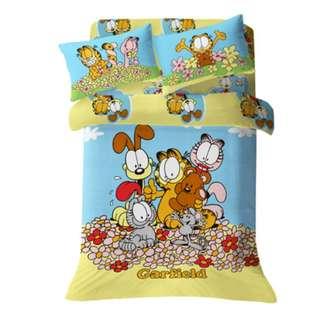 Yes Zone 卡通精品 加菲貓 Garfield #06 正版 單人/雙人三件套780針純棉床笠被套四件套床單
