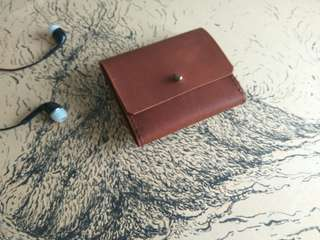 Hqndmade Leather Simple Purse /Wallet